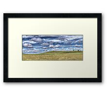 Two trees Panorama Framed Print