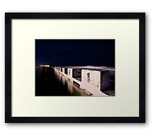 Merewether Blocks by Night Framed Print