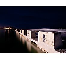 Merewether Blocks by Night Photographic Print