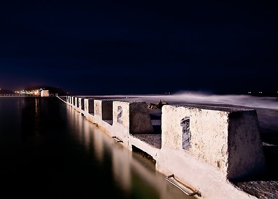 Merewether Blocks by Night by 4thdayimages