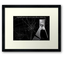 All relationships have areas of mutual incomprehension... Framed Print