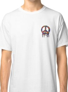 Psychedelic Peace Sign  Classic T-Shirt