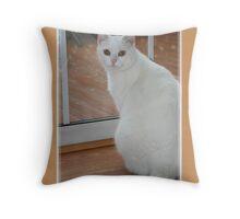 Kitty Mew Throw Pillow