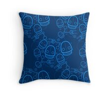Spaztic Bots 3 Throw Pillow