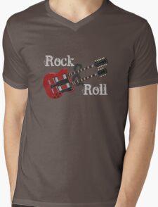 Rock & Roll Guitar Mens V-Neck T-Shirt