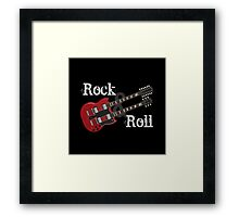 Rock & Roll Guitar Framed Print