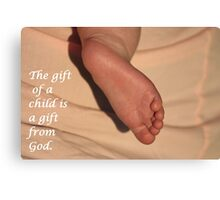The Gift of a Child Canvas Print