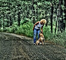 Woman And Her Dog by OneRudeDawg