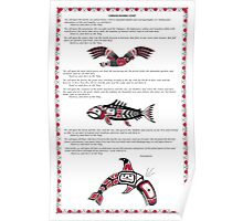 Chinook Litany Poster with Illustrations Poster