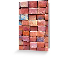 Brick Work Greeting Card