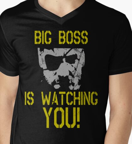 Big Boss Is Watching You! Mens V-Neck T-Shirt