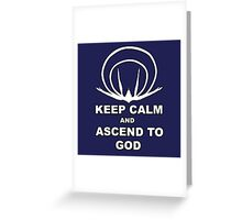 Evangelion- Ascend to God Greeting Card