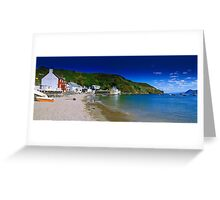 Porth Dinllaen from beach Greeting Card