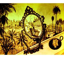 two realities..mirror and window Photographic Print