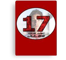 Jules Bianchi Tribute Canvas Print