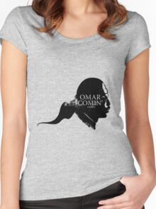 Omar is comin' Women's Fitted Scoop T-Shirt