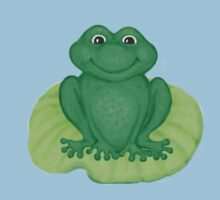 Frog on Lily Pad One Piece - Short Sleeve