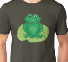 Frog on Lily Pad Unisex T-Shirt