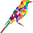 Abstract bird by Akhilesh