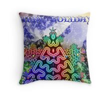 Happy Holidays Card Throw Pillow