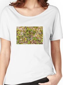 Macro of clover sprouts Women's Relaxed Fit T-Shirt