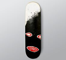 SIMPLY Skateboarding hand painted deck 01 by Steve Leadbeater