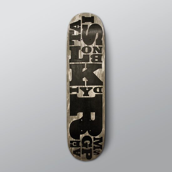 SIMPLY Skateboarding hand painted deck 02 by Steve Leadbeater