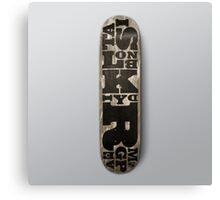 SIMPLY Skateboarding hand painted deck 02 Canvas Print