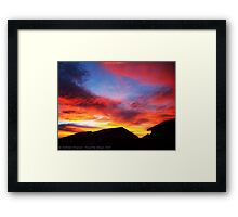 God's Fireworks Framed Print