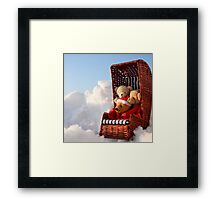 Bear's Winter Holidays Pillow Framed Print