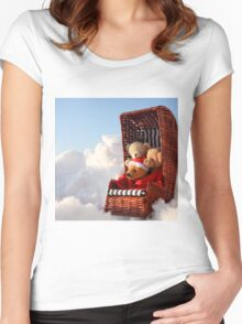 Bear's Winter Holidays Pillow Women's Fitted Scoop T-Shirt