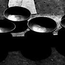 B & W pottery bowls by Jordan Miscamble