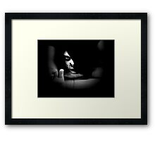 Cat got your tongue ? Framed Print