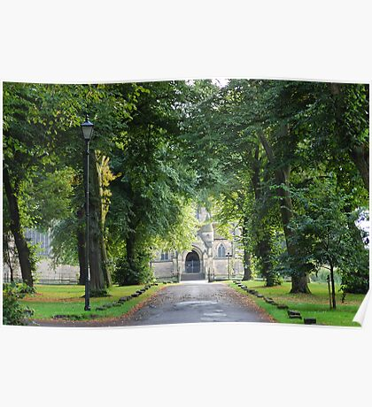 The Avenue to Wentworth Church, Near Rotherham Poster