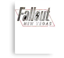 Fallout New Vegas Title Canvas Print