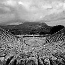 Amphitheatre of rain, Segesta, Sicily by Andrew Jones