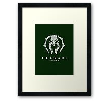 A Green Black Insect Framed Print