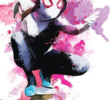 Spider-Gwen - Splatter Art by MessyHeroics