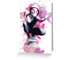 Spider-Gwen - Splatter Art Greeting Card