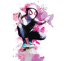 Spider-Gwen - Splatter Art Photographic Print
