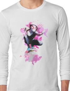Spider-Gwen - Splatter Art Long Sleeve T-Shirt