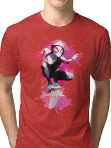 Spider-Gwen - Splatter Art Tri-blend T-Shirt