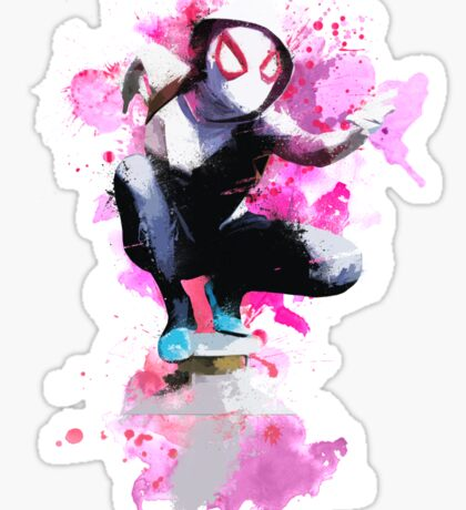 Spider-Gwen - Splatter Art Sticker