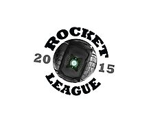 Rocket League Ball Logo Collegiate University Style Photographic Print