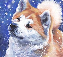 Japanese Akita Fine Art Painting by lashepard