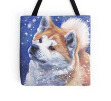 Japanese Akita Fine Art Painting Tote Bag