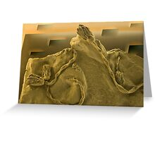 Surrealistic Fossils Greeting Card