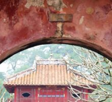 Doorway to the past - Hue, Viet Nam. Sticker