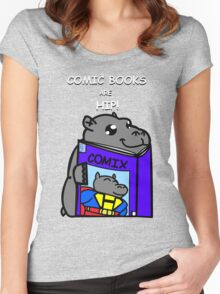 Comic Books are Hip! Women's Fitted Scoop T-Shirt