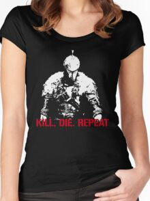Kill, die, repeat Women's Fitted Scoop T-Shirt
